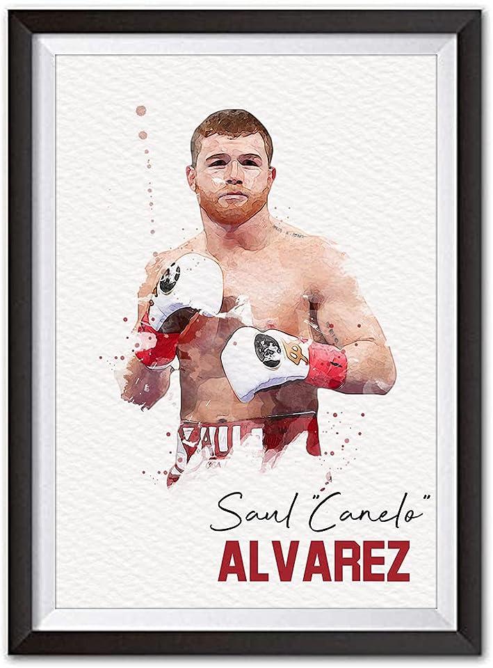 Saul Canelo Alvarez Boxing Print | Watercolour Style Poster | A4 Print