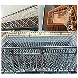 terrazza reticolato/net per bambini rete a maglie per windows reti a traliccio per coltivare tende robusto per la scuola materna di festa decorazione 6mm/5cm bianco (size : 1x7m)