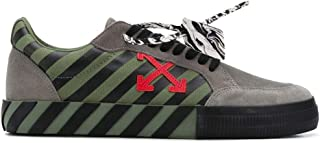 Luxury Fashion | Off-white Men OMIA085E20LEA0016325 Green Leather Sneakers | Autumn-winter 20