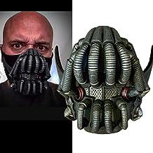 LIUQI Palo media máscara Batman personaje de película El caballero oscuro se levanta máscara de Halloween Cosplay traje Prop