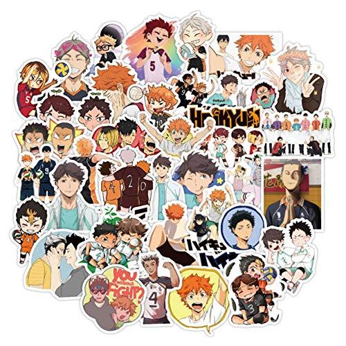 qnVCWuv 100 Pcs Anime Janpan Haikyuu Stickers Waterproof Vinyl Stickers for Water Bottle Luggage Bike Car Decals( 100PCS)