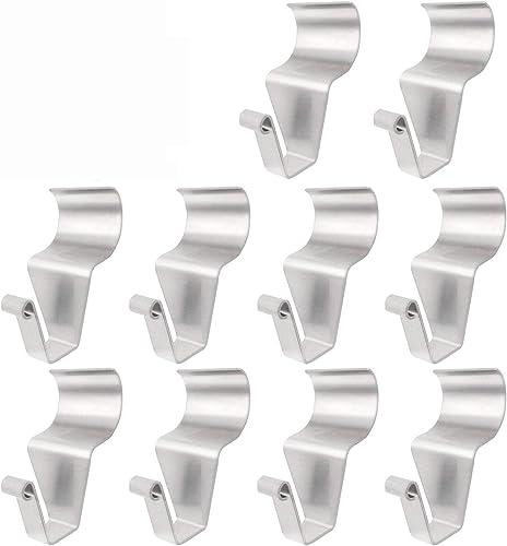 Vinyl Siding Hooks (10 Pack), Heavy Duty Stainless Steel Low Profile No Hole Hanger