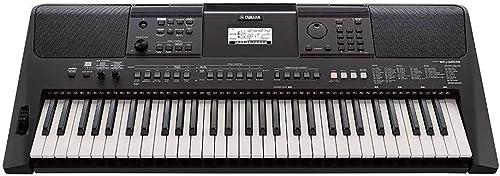Yamaha PSR-E463 – Clavier électronique avec 61 touches – Instrument de musique portable – Simple à utiliser – Idéal p...