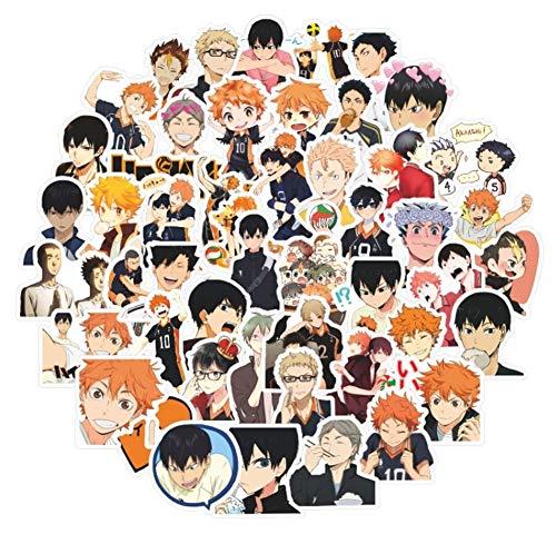 Haikyuu Karasuno Nekoma Anime Karasuno High School 52 pcs Haikyuu Laptop Stickers (Sty1) - Haocoyee LE
