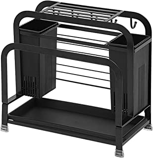 soporte de pared para organizadores de cocina josietomy Armario de cocina sin taladros para palillos comederos soporte para tapa de ollas y soporte para cubiertos.