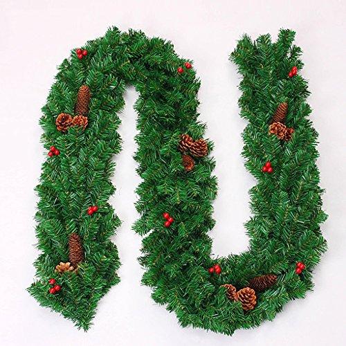 GYH Rotin De Noël - Noix De Vigne De Noël Décorations De Noël (270x25cm) /&