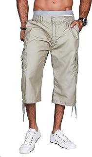HEFASDM Mens 3/4 Length Shorts Low Waist Work To Weekend Combat Pants