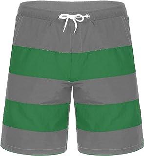 ranrann Mens Stripes Pattern Beachwear Swim Trunks Beach Board Shorts Bathing Suit Bottoms