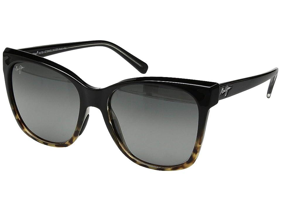 Maui Jim Alekona (Black/Tokyo Tortoise/Neutral Grey) Athletic Performance Sport Sunglasses