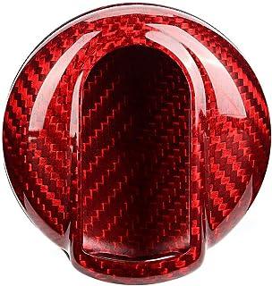 H HILABEE 2PCS Car Decration Anello Chiave Cover Protettiva Per BMW Mini Cooper Red Purple