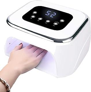GYNFJK Lámpara LED Uñas 99W Secador de Uñas UV para Manicura Shellac y Gel Sensor Automático 4 temporizadores