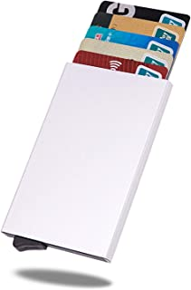 VOLAN RFID Blocking Slim Credit Card Case for Men and Women Minimalist Holder 6 Colors (Silver)