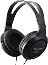 Panasonic Headphones RP-HT161-K Full-Sized Over-the-Ear Lightweight Long-Corded (Black)
