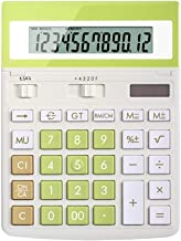 $57 » Electronics Solar Powered Calculator 12-Digit Calculator Large Screen Display Large Buttons Accounting Office Design Dual ...