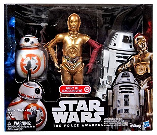 Star Wars B Force Awakens 30,5 cm Droid 3 Pezzi c-3po, BB-8, ro-4lo Exclusive Figure