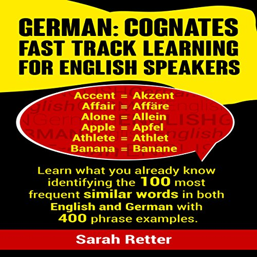 German: Cognates Fast Track Learning for English Speakers cover art