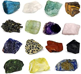 Marrywindix 15 Chakra Stone Tumbled Stone Crystal Natural Rough Raw Healing Stone Set for Yoga, Meditation, Reiki, Healing...