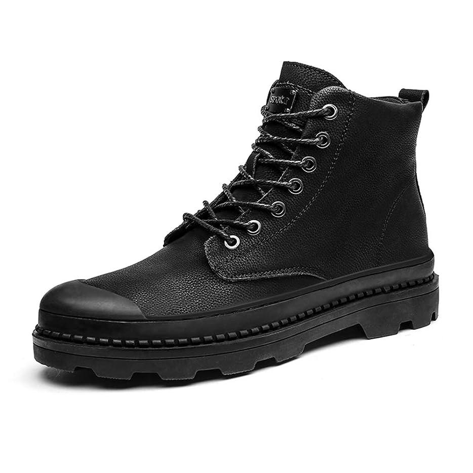 思われるエンゲージメントアプト靴メンズファッションアンクルワークブーツカジュアルラウンドトゥアウトソールウィンターフェイクフリースインサイドハイトップブーツ(従来のオプション)