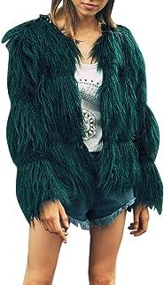 377fec1cfd53b5 LandFox-Cappotto Donna Pile Pelliccia Giacca Cardigan Casual Moda Donna  Elegante Vello Polare Manica Lunga