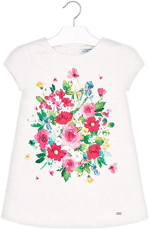 Mayoral - Jacquard Flower Dress for Girls - 3930, Green