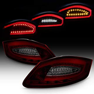 ACANII - For 2005-2008 Porsche Boxster 987 06-08 Cayman Red Smoke LED Tube Tail Lights Lamps