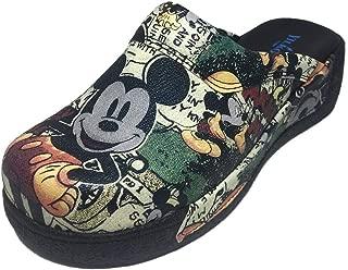TerlikSabo Mickey Mouse Siyah Desenli Sabo Terlik