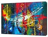 Jackson Pollock - Pintura al óleo abstracta para pared sobre lienzo enmarcado (40 x 30 pulgadas) - 38 mm de profundidad