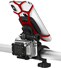 Vena Bike Phone Mount, Universal 6Netic Magnetic Phone Holder with Security Straps for Bicycles and Handlebars, 360° Rotation, with Headlight/Action Camera Mount