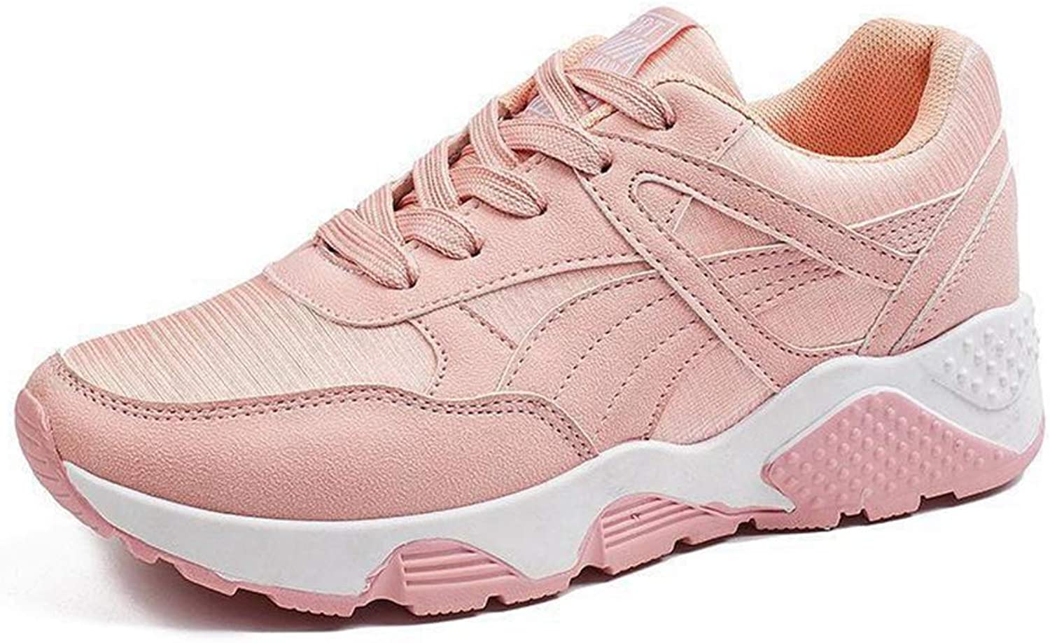 Hoxekle Woman Sneakers shoes Casual Female shoes Wedges Pink Platform Sneakers Women Lace Up shoes