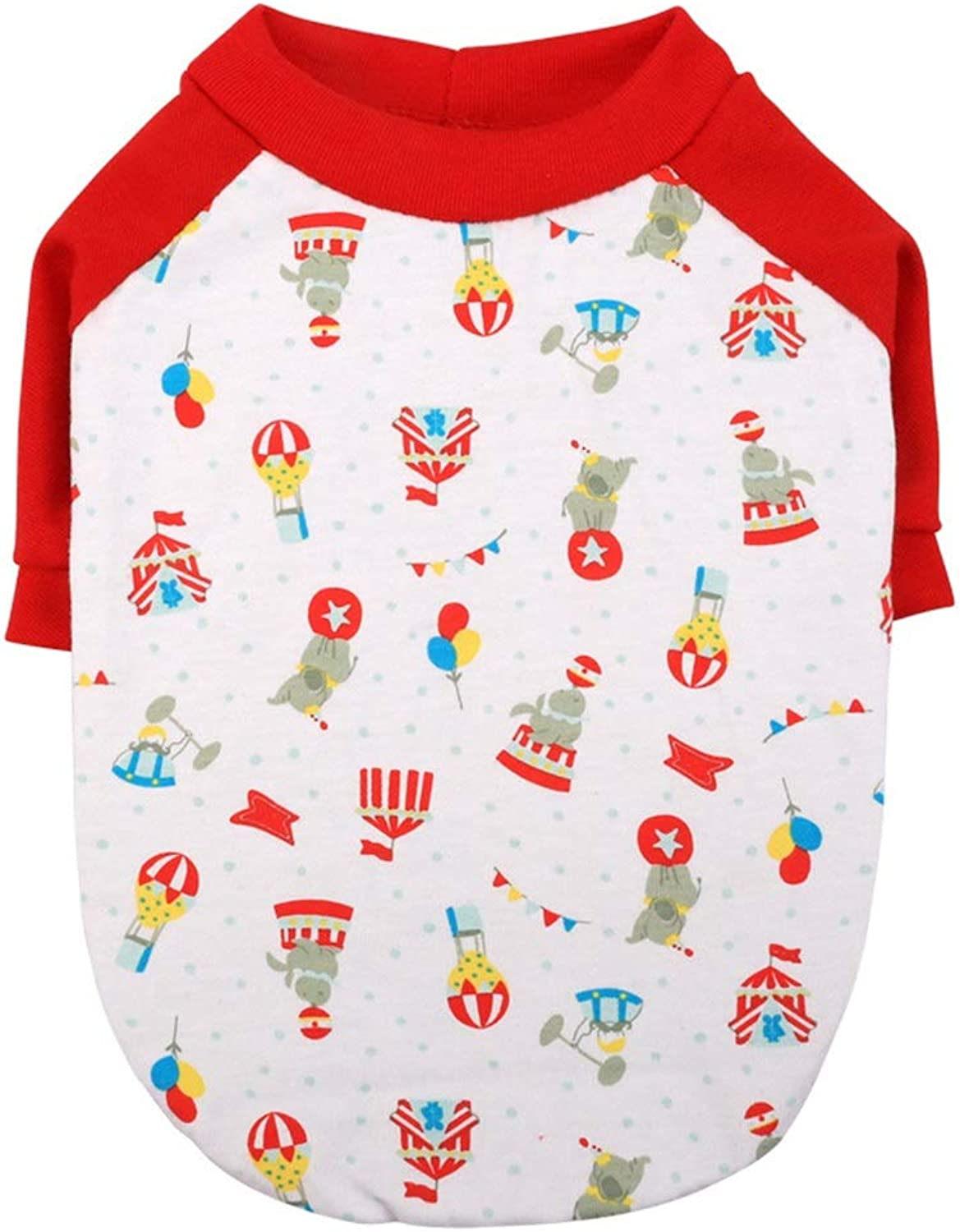 Huayue Cotton Precious Dog Bout Neck Shirt Pet Clothing ShortSleeved TShirt (color   Red, Size   S)