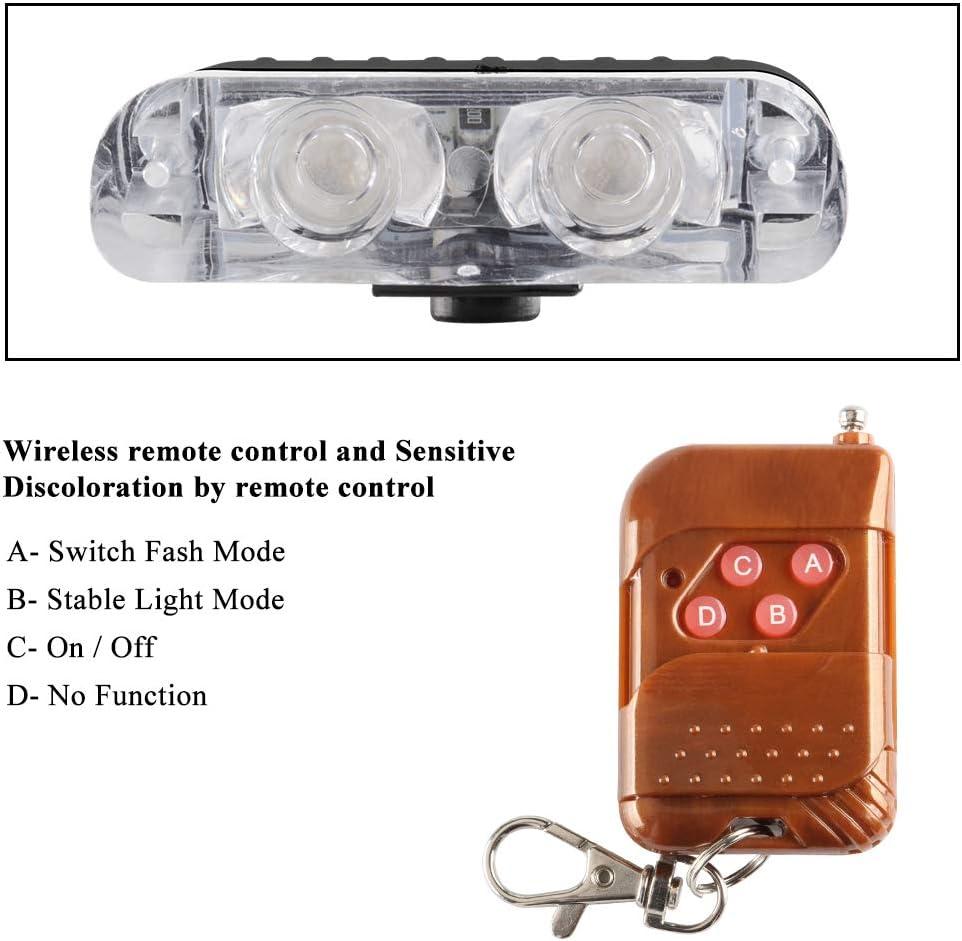 Amber Yifengshun 4 in 1 LED Strobe Flashing Light Bar,LED High Intensity Emergency Hazard Warning Lighting Bar,Emergency Hazard Warning Strobe light,DC12V Wireless Remote Control