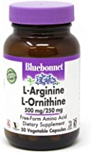 Bluebonnet l-ornithine 500 Mg/250 Mg Vitamin Capsules, 50Count