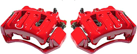 CCK12326 [2] FRONT Performance [ 2WD 4WD ] Red Powder Coated Semi-Loaded Caliper Assembly Set