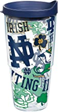 Tervis Notre Dame Fighting Irish All Over Tumbler with Wrap and Navy Lid 24oz, Clear