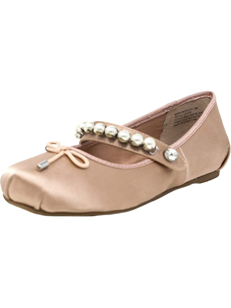 ピッチャー不幸オプショナルSteve Madden Women's Berry Ankle-High Satin Ballet Flat