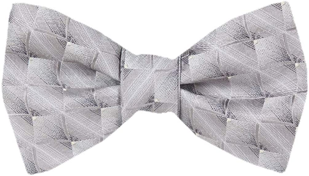 Mens Gray Self Tie Bow Tie XL for Men Big and Tall Bows