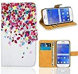 Samsung Galaxy Ace 4 G357 G357FZ Housse Coque, FoneExpert Etui Housse Coque en Cuir Portefeuille Wallet Case Cover pour Samsung Galaxy Ace 4 G357 G357FZ