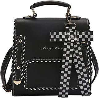 GYYlucky European and American Style 2019 New Pu Backpack Pu Women's Geometric Bag Popular Backpack Female (Color : Black)