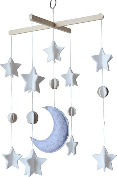 Baby Crib Mobile By Sorrel Fern Moon Stars Planets Nursery Decor Crib Mobile