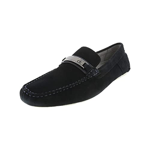 Calvin Klein Mens Marcell Suede Ankle-High Moccasins