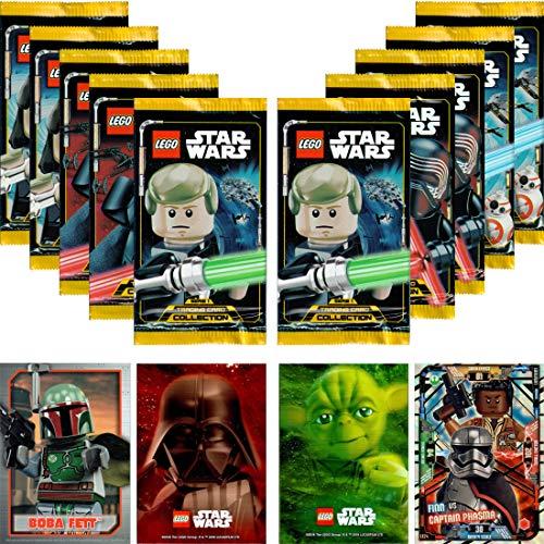 LEGO STAR WARS Trading Card Collection Serie 1: 10 Booster + Bonus Karte + LE-Karte (LE24 Finn vs Captain Phasma)