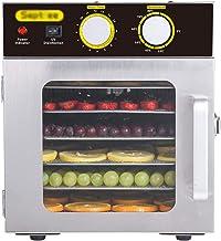 Máquina de conservación de alimentos para el hogar Deshidratador de alimentos, botón Mute de temperatura ajustable Mute con 6 capas de bandeja de acero inoxidable, adecuado para alimentos secos para e