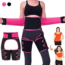 Becoolpet 2020 New 3-in-1 Waist Thigh Trimmer, Butt Lifter, Weight Loss Waist Thigh Trainer, Waist Thigh Slimmer, Waist Trainer for Women, for Workout, Slimming, Training, Fitness,Adjustable