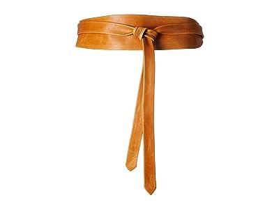 ADA Collection Obi Classic Wrap Belt (Cognac) Women