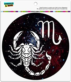 GRAPHICS & MORE Scorpio Scorpion Zodiac Sign Horoscope in Space Automotive Car Refrigerator Locker Vinyl Circle Magnet