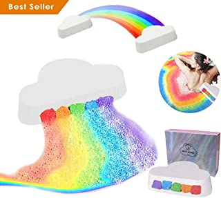 Colorful Rainbow Cloud Bath Bomb,Float on Water&Release Vivid Rainbow Color Fizzy Moisturize Dry Skin, Surprise Bath Bomb Bath Fizzy Stocking Stuffer Gift For Her&Kids (1pack)
