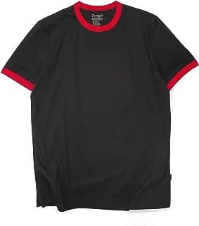 Men's Ringer Tee Crew Neck Athletic T Shirts Short Sleeve Sport Shirt for Men