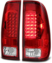 VIPMOTOZ LED Tail Light Lamp Assembly For 1997-2003 Ford F-150 & 1999-2007 Ford Superduty F-250 F-350 Pickup Truck - Rosso Red Lens, Driver and Passenger Side