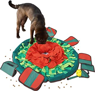 SNiFFiz SmellyMatty Snuffle Mat for Dogs – Interactive Food IQ Toy Package (Large Nosework Blanket + 5 Treat Puzzle) – Mind Stimulating Games with Stress Relief for Boredom