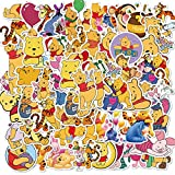 Winnie The Pooh Sticker Pack Waterproof Vinyl Stickers for Water Bottles Skateboard Stickers for Teens Laptop Stickers Motorcycle, Bicycle, Graffiti Patches Decal 50 Pcs